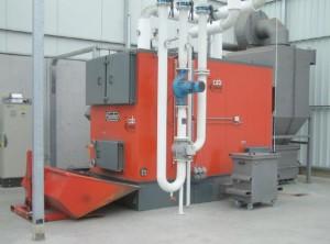 Chaudière Binder de 1200 kW à plaquettes chez Coysman en Belgique