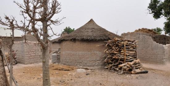 Bois-énergie contre une case au Mali, photo Gérès