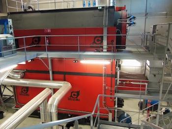 Chaudière Compte R de 7,7 MW à la Gauthière à Clermont-Ferrand, photo Compte R.