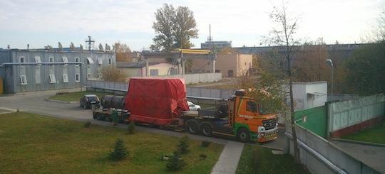 Chaudière en sortance du site de Gomel en Biélorussie, photo Compre R.