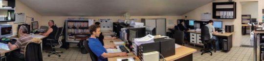 Le bureau de R & D Compte R à Arlanc, photo Compre R