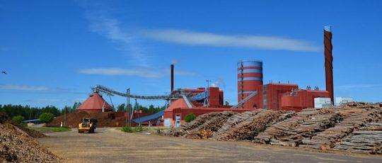 En Suède, depuis 2012, 51 % de la consommation énergétique provient d'énergies renouvelables et notamment du bois, photo Frédéric Douard