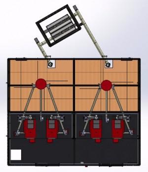 Implantation des chaudières dans la chaufferie de Montlebon, schéma Containergie