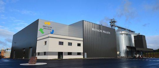 L'usine Bretagne Pellets flambant neuve, photo Frédéric Douard