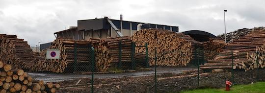 La chaufferie Recybois derrière le parc à bois des Paletteries François, photo Frédéric Douard