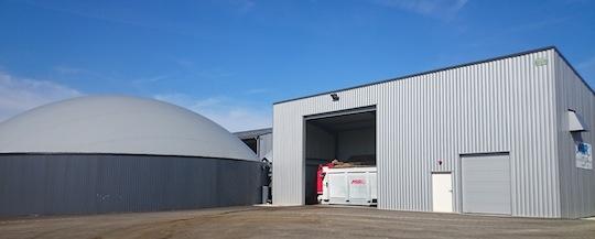 Le bâtiment de préparation de la ration à Landresse, photo incorporateur-biogaz.com
