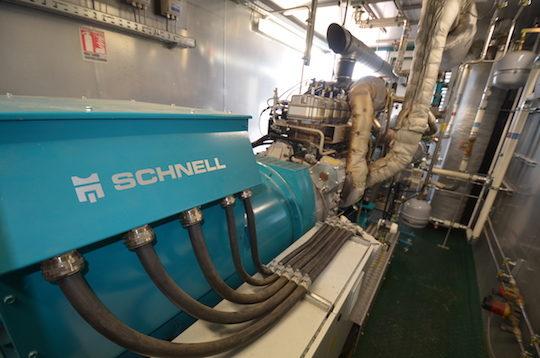 Le moteur de cogénération Schnell, photo Frédéric Douard