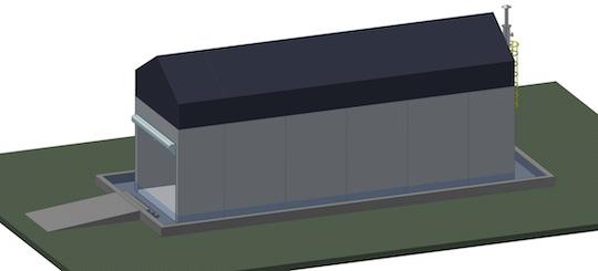 Vue du digesteur piston compact en kit modulable de Methaniseur.com