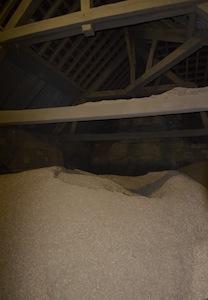 Vue du silo dans le grenier de la chaufferie, photo Frédéric Douard