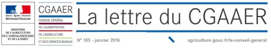 bandeau Lettre CGAAER_janvier_2016