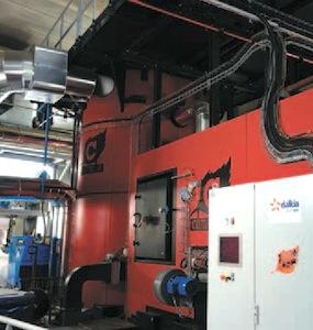 La chaudière Compte R. de 2 MW, photo Dalkia
