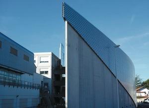 La chaufferie biomasse de l'hôpital Saint-Léon de bayonne, photo Dalkia