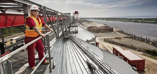 Le rêve américain coûte cher à German Pellets, ici le terminal de Port Arthur, photo German Pellets