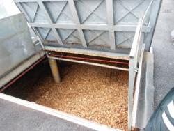 Le silo enterré et carrossable de 240 m3 de la chaufferie bois, photo CH Côte Basque