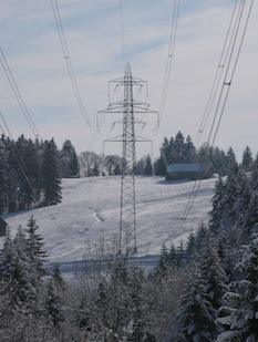 Ligne électrique helvète, photo Energie Bois Suisse