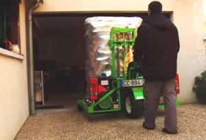 Le chariot embarqué à une roue motrice  est capable de porter jusque 1,1 tonne, photo Jeremy Hugues