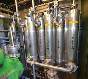 Filtres membranes d'épuration du biogaz Pentair, photo Frédéric Douard
