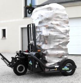 Le CartCity permet de livrer là où le camion ou le chariot ne peuvent pas approcher, photo Transmanut