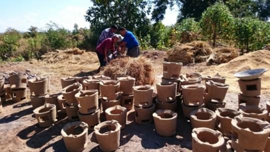 Foyers améliorés Myanmar, photo Géres