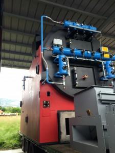Le haut de la chaudière bois de 3,2 MW lors de son départ des usines Compte R. en Auvergne, photo Compte R.