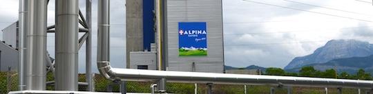 Départ du réseau depuis la chaufferie de Bissy et le client vapeur Alpina, fabricant local de pâtes alimentaires, photo Frédéric Douard