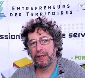 François Pasquier au salon BOIS ENERGIE 2016, image Jeremy Hugues