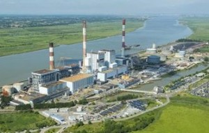 La centrale de Cordemais dans l'estuaire de la Loire, photo EDF