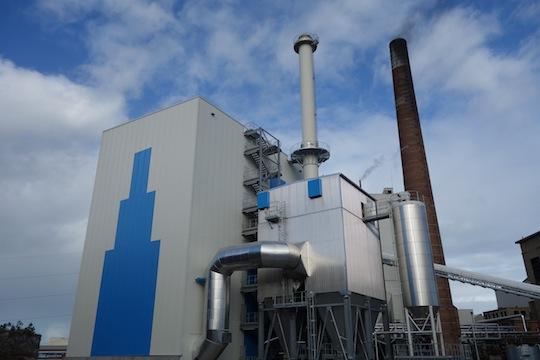 La nouvelle chaufferie biomasse de Gascogne Paper, photo Bertsch