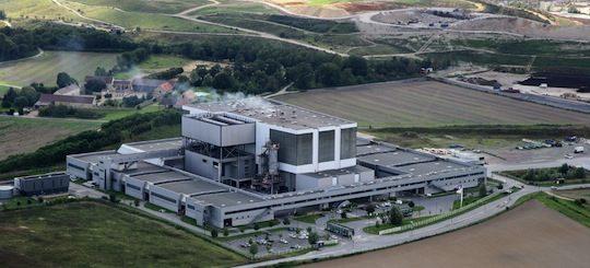 Le SIREDOM étudie la possibilité de construire des stations d'avitaillement de bioGNV à proximité des installations de traitement comme celle de Vert-le-Grand, photo Semardel