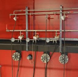 Points d'injection d'urée dans le foyer de l'une des chaudères de Bissy, photo Frédéric Douard