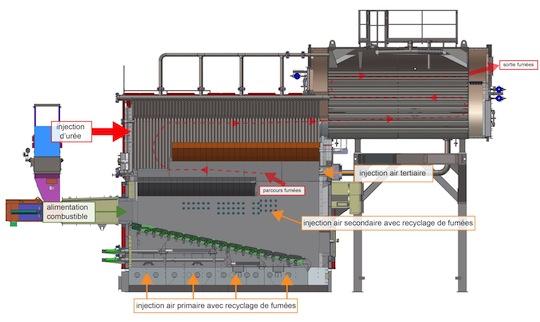 Schéma de l'une des chaudières à vapeur Compte R. ATAF de Chambéry-Bissy, schéma Compte R.