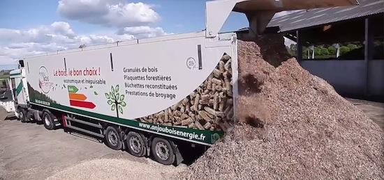 Semi-remorque Anjou Bois Energie
