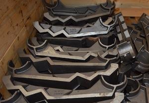 Barreaux de grilles de chaudières à biomasse Biopale, photo Frédéric Douard