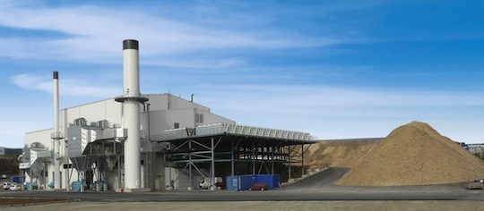 La centrale Bioénergie Lozère met en oeuvre 3 chaudières Polytechnik de 17, 17 et 10 MW, photo Polytechnik
