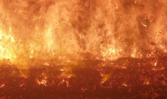 Les envolées observées ici dans la chaudière d'AEB en 2012 ont été fortement réduites avec l'utilisation du Fire Cube, photo Frédéric Douard