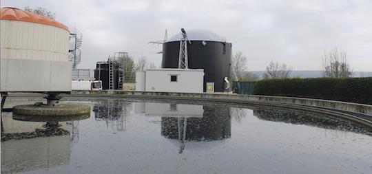 Unité de méthanisation Weltec dans une STEP du sud de l'Allemagne, photo Weltec
