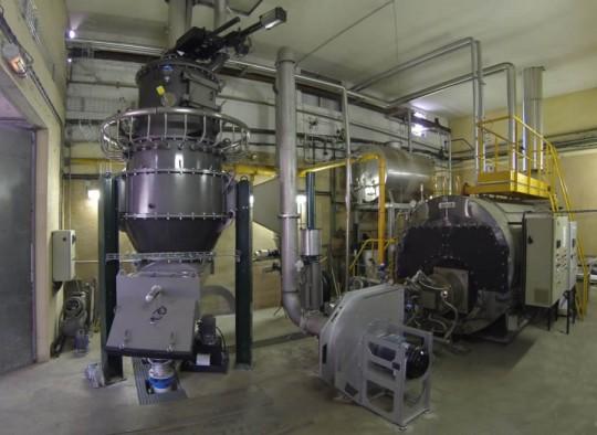 Demeters Parners intervient dans l'entreprise Cogébio, illustrée ici par sa référence de chaufferie à gaz de bois chez Guyenne-Papier, photo Cogébio