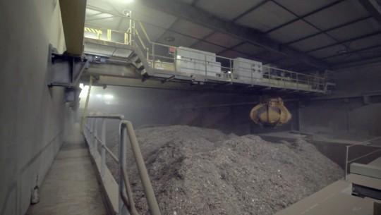 Le silo à combustible déchets bois, photo Kiowatt