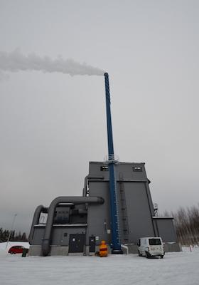 A l'image de la nouvelle chaufferie KPA Unicon de la ville de Kauhava, les chaufferies finlandaises s'approvisionnent en bois totalement humide, photo Frédéric Douard