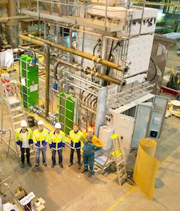 Atelier de fabrication d'un laveur-condenseur de fumée Caligo à Turku en Finlande, photo Caligo