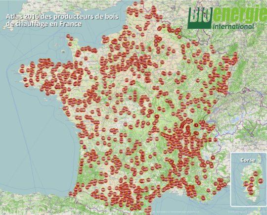 Atlas 2016 Bioénergie International des producteurs de bois de chauffage – Cliquer sur l'image pour l'agrandir