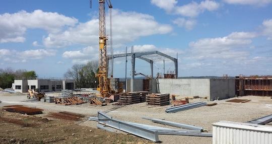 Chantier de la centrale biogaz de Quimper pour Vol-V biomasse, photo Waterleau