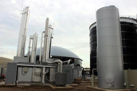 Désulfuration et lavage à l'eau sur l'unité de méthanisation RWE de Bergheim, photo Waterleau