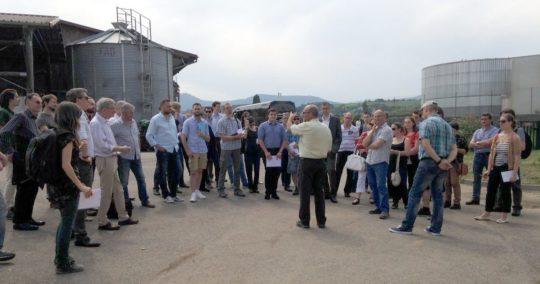 La visite du site d'Obernai, crédit photo Biogaz Vallée®