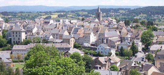 La ville de Saint-Chély d'Apcher en Lozère, photo Ville de Saint-Chély d'Apcher