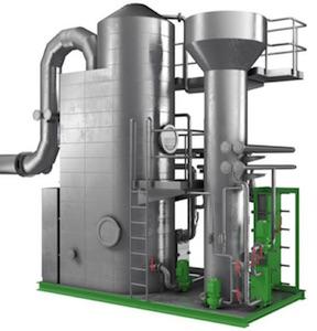 Le laveur-condenseur de fumée Caligo est constitué de matériaux résistant à la corrosion, image Caligo
