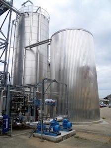 Régénération thermique issue du refroidissement des vinasses chez Tereos Artenay, photo Waterleau