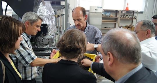 Visite du pilote de torréfaction de la biomasse à la technopôle d'Orbe, photo EBS
