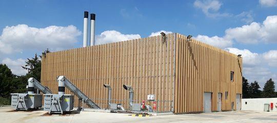 La chaufferie biomasse de Saint-Germain-en-Laye, photo Dalkia