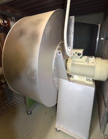 Le ventilateur de 44 000 m³-h du module de séchage, photo Frédéric Douard